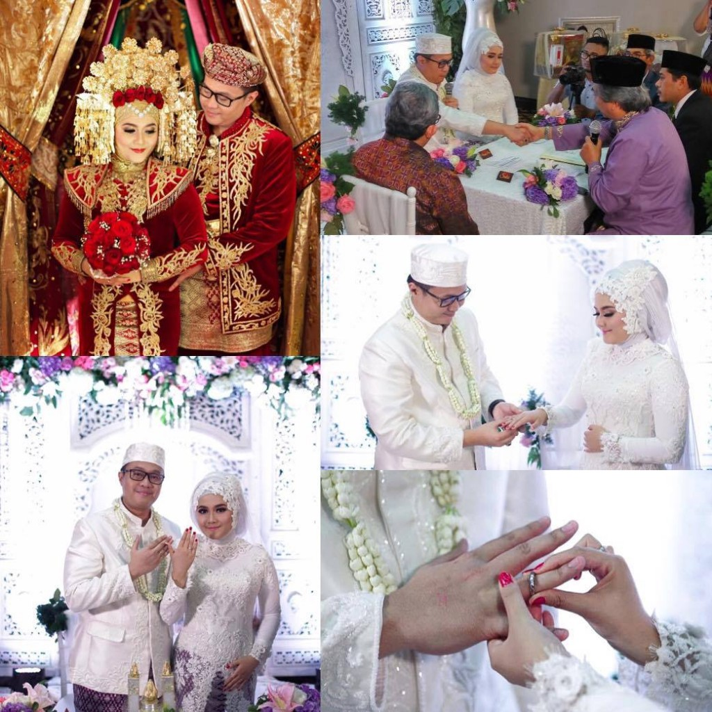taufan and vita at their indonesian wedding